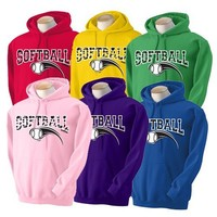 Sports Katz Women's Softball Zebra Design Hoodie