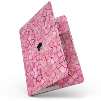 Pink Watercolor Giraffe Pattern - MacBook Pro without Touch Bar Skin Kit