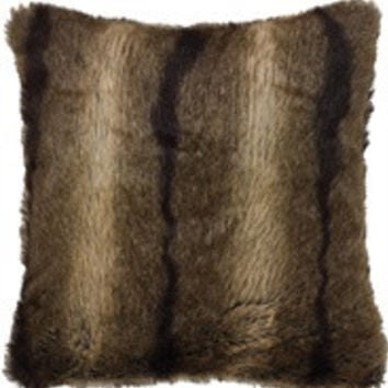 Faux Chinchilla Fur Pillow with Down Insert