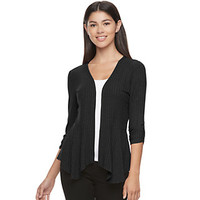 Juniors' Candie's® Draped Peplum Cardigan | null