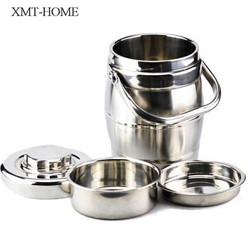 XMT-HOME food thermo vacuum bento box thermos lunch box containers with compartments lunch boxs thermal container 1.4-3.0L 1pc