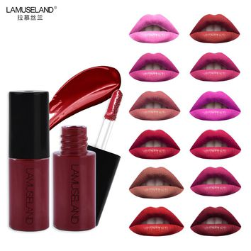 Sample Size Waterproof Long-Lasting Matte Mini Liquid Lipstick Easy To Carry 12 Colors 3.5g Lip Makeup Brand LAMUSELAND #L18L11