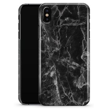 Smooth Black Marble - iPhone X Clipit Case