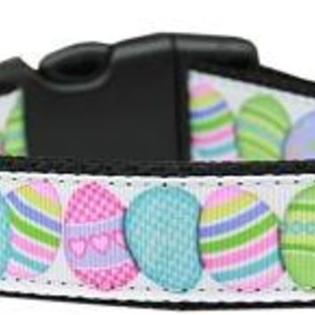 Easter Egg Nylon Dog Collar Large