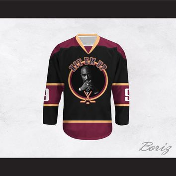 Tupac Shakur 9 Hit Em Up Hockey Jersey Design 2