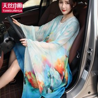 165*140 2017 Arrival Summer Beach Cover up Large Pareos Chiffon Wrap Shawl Beach Sarongs For Women Silk Scarf Sunscreen Clothing