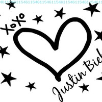 I love Justin Bieber kisses cute music wall art wall sayings quotes:Amazon:Home & Kitchen