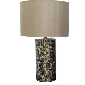 "Bombay™ Round Seashell Mosaic 25"" Table Lamp"