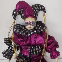 Unique one of a kind Poercelain Jester Doll of uknown origin