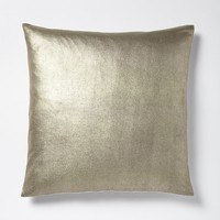 Solid Metallic Pillow Cover - Mocha Gold