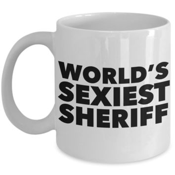 World's Sexiest Sheriff Mug Academy Graduation Gifts Ceramic Coffee Cup
