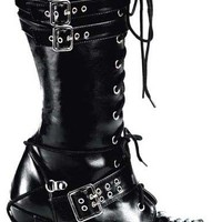 CHARADE-206 Boots Buckle Laceup - platform boots, gothic boots, punk boots