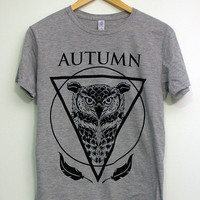 Wise Owl Gray Available Sizes SMLXL by autumncollective on Etsy