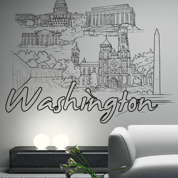 Vinyl Wall Decal Sticker Washington #1424