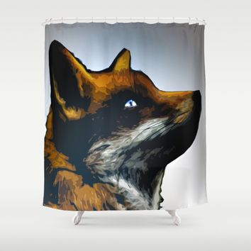 Fox Shower Curtain by Animilustration | Society6