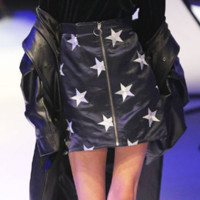 High-end custom models pentagonal star A word skirt high waist pack hip skirt female