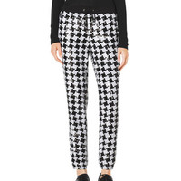 MICHAEL Michael Kors Sequined Houndstooth Jogging Pants