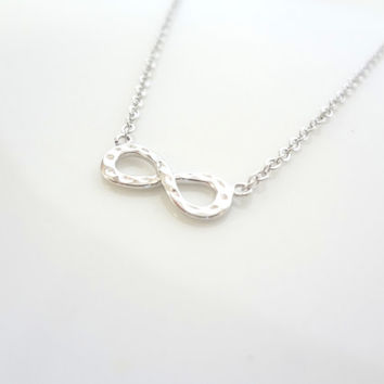 Silver Infinity Necklace, Tiny Necklace, Infinity Necklace, Simple Necklace, Valentine Day Gift