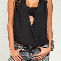 OPEN OVERLAP LACE SHOULDER TOP | Paper Kranes