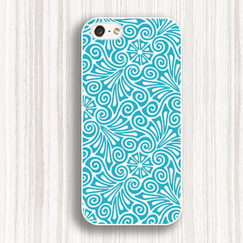 blue flower pattern iphone 5s cases, iPhone 4 4s Hard Plastic Rubber Case,cover skin for iphone 5c 5s 5 cases