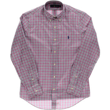 Polo Ralph Lauren Mens Plaid Button-Down Collar Dress Shirt