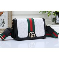GUCCI Fashion Lady Coloured and Printed Shopping Bags White
