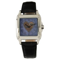 Grunge Steampunk Clocks and Gears Heart Watch