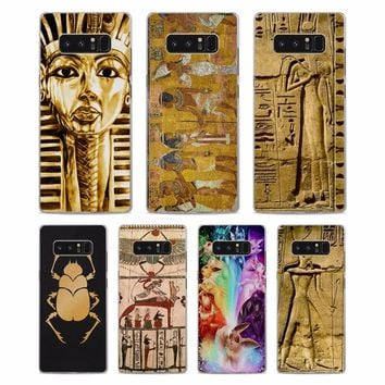 Egyptian Art Hard Phone Case Cover for Samsung Note8 Note5 S8 S8Plus S6 S7 edge S5