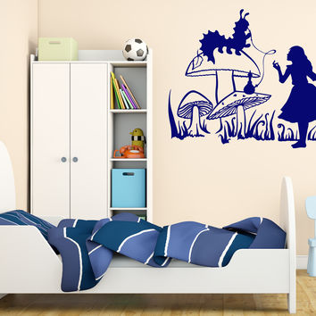 Wall Vinyl Decal Alice in Wonderland Fairytale Story Home Interior Decor Unique Gift z4645