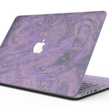 Purple Slate Marble Surface V30 - MacBook Pro with Retina Display Full-Coverage Skin Kit