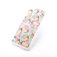 WHITE Snap On Case for APPLE IPOD TOUCH 5 / 5th Gen Generation Plastic Cover - POLKA DOT PINK ROSE floral flowers cute girly pattern lily lotus hibiscus
