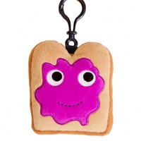 Miniature Toast Plush Clip