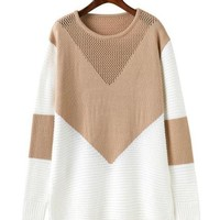 Long Sleeve Block Pullover - Available in Tan and Black