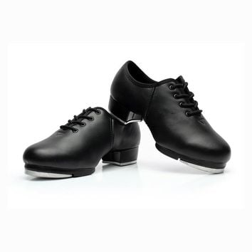 Genuine Leather Tap Shoes for Girl's Women Kids Tap Shoes Performance Practice Shoes Low-heeled 3.5cm T30
