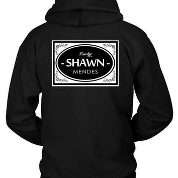 DCCKG72 Shawn Mendes Lucky Shawn Mendes Retro Style Hoodie Two Sided