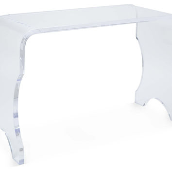 "Piano 38"" Acrylic Bench, Clear, Acrylic / Lucite, Bedroom Bench"