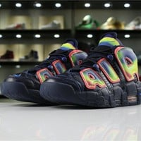 "Nike Air More Uptempo ""Hot Punch"" 917593 002 hot pink pinch volt"