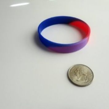 Bisexual pride colors wristband pride bracelet no text