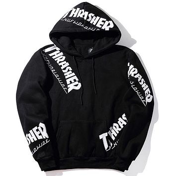 Thrasher Print Hip-Hop Top Sweater Hoodie
