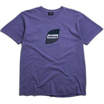 Stripes Pigment Dyed T-Shirt Purple