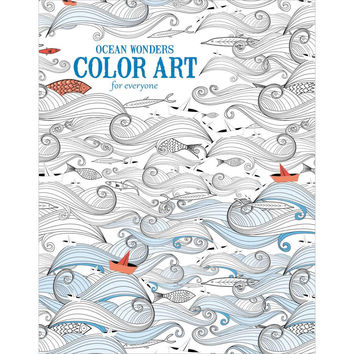 Leisure Arts Ocean Wonders Adult Coloring and Activity Book