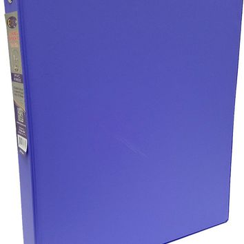 "1"""" Purple Vinyl 3-Ring Binder w/ 2 Pockets Case Pack 24"