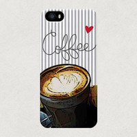 Coffee Love Heart Flat White Latte Art iPhone 4 4s 5 5s 5c Case