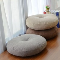 Linen Futon Cushions Thick Circular Large Fabric Floor Meditation Japanese-style Balcony Window Tatami Cushion Throw Pillow