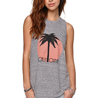 Volcom Cali Muscle Mayhem Tank - Womens Tee - E. Heather Grey -
