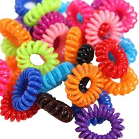Giftpocket 10pcs Women Soft Ring Elastic Ties Hair Band Rope Candy Colors Hair Band Tie