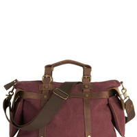 ModCloth Rustic In the Event of Adventure Bag in Cabernet