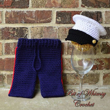 Marine Corps Hat pants set ,baby hat ,Baby pants longies ,Photography prop , newborn 0 3 6 months MADE TO ORDER