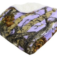 "REGAL 50"" x 70"" Sherpa Luxury Throw Blanket - The Woods' Black Camo"