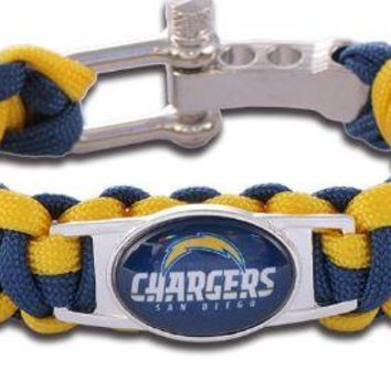NFL - San Diego Chargers Custom Paracord Bracelet